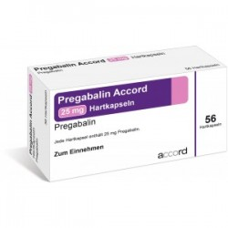 Pregabalin Accord 25mg x 56 tabs